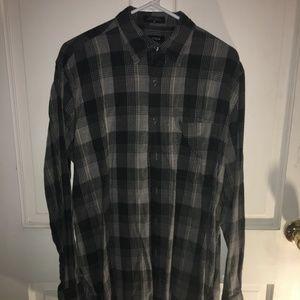 Men's Nautica Grey Plaid Button Up Shirt